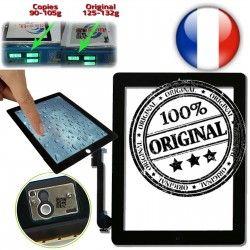 Frontale A1416 3 Home Oléophobe Vitre A1403 Verre Qualité A1430 Fixation iPad3 Multi Apple iPad Tactile Ultraviolet Adhésif Monté ON Noir Caméra Touch ORIGINAL