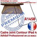 Joint Plastique iPad 4 A1458 N Contour Vitre Noir Apple Réparation Autocollant Precollé Ecran Cadre Châssis Tablette Tactile Adhésif