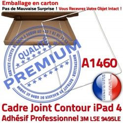Apple Tablette 4 Joint Plastique A1460 ABS Adhésif Vitre iPad Contour Ecran Châssis Blanc Autocollant B Tactile Réparation Cadre