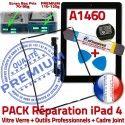PACK iPad 4 A1460 iLAME Joint N Verre Bouton Réparation Tactile Tablette iPad4 Outils HOME Noire Vitre Adhésif Precollé KIT Apple Chassis Cadre
