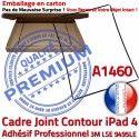 PACK iPad 4 A1460 iLAME Joint N Cadre Precollé HOME Outils Bouton Verre Apple Adhésif Réparation KIT Noire Vitre Chassis iPad4 Tablette Tactile