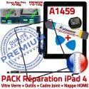 PACK A1459 iLAME Joint Nappe N Apple Adhésif Precollé Réparation Vitre KIT Cadre Verre Bouton Tactile iPad4 Tablette Outils HOME Noire