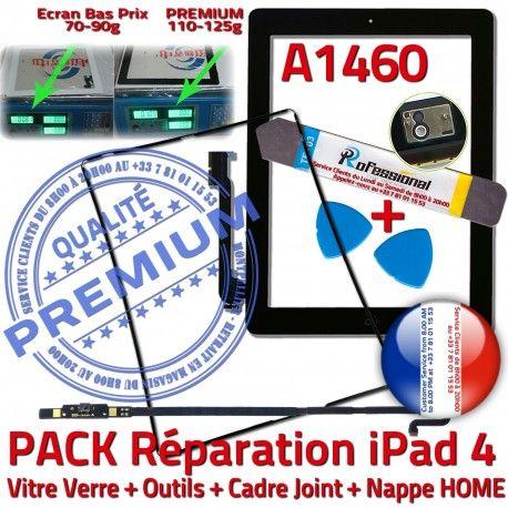 PACK A1460 iLAME Joint Nappe N Outils Precollé Tactile Noire HOME Réparation Vitre Cadre Apple Tablette Verre Adhésif iPad4 Bouton KIT