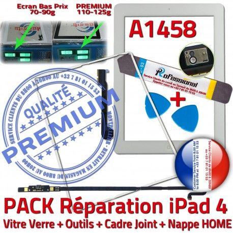 PACK A1458 iLAME Joint Nappe B Adhésif Verre Precollé iPad4 Tactile Blanche Outils Tablette Réparation Vitre HOME PREMIUM Bouton Apple