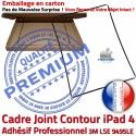 PACK A1460 iLAME Joint Nappe N Outils Noire Apple Adhésif Tablette HOME iPad4 Vitre Bouton KIT Precollé Verre Réparation Tactile Cadre