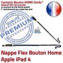PACK A1460 iLAME Joint Nappe B Precollé Outils HOME Tactile Blanche PREMIUM Vitre Adhésif Apple Tablette Réparation Bouton iPad4 Verre