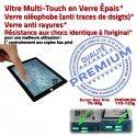 iPad3 Apple A1430 Noir Qualité HOME Vitre 3 Ecran PREMIUM iPad Caméra Fixation Precollé Verre Tactile Oléophobe Bouton Adhésif Remplacement