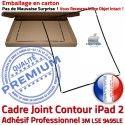 Joint Plastique iPad 2 N Apple Tactile ABS Châssis Vitre Autocollant Noir Réparation Cadre Precollé Ecran Tablette Adhésif Contour