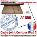 Joint Plastique iPad 2 A1396 N Apple Châssis Tablette Adhésif Noir Réparation Precollé Contour Autocollant Tactile Cadre Vitre Ecran