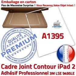 ABS Plastique Apple 2 Autocollant Blanc Contour Châssis iPad Adhésif A1395 B Ecran Cadre Tactile Vitre Joint Tablette Réparation