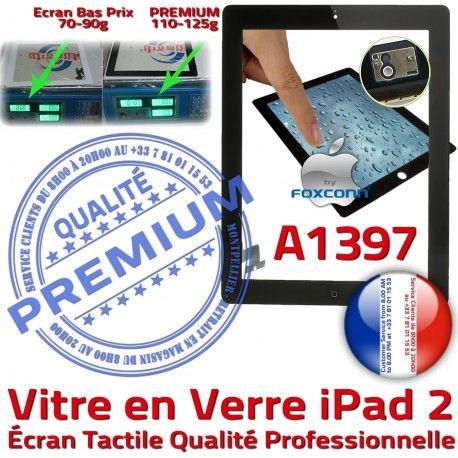 iPad2 Apple A1397 Noir Qualité PREMIUM Tactile 2 Vitre Caméra Verre Bouton Fixation Oléophobe iPad HOME Adhésif Ecran Remplacement Precollé
