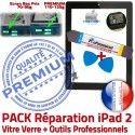 PACK iPad2 A1395 A1396 A1397 N Adhésif Qualité KIT Tactile iPad Precollé Outils Réparation Démontage Bouton Verre Oléophobe HOME Vitre Tablette Noire 2 PREMIUM