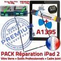 PACK iPad 2 A1395 iLAME Joint N Réparation Vitre Noire Precollé Outils Verre KIT Chassis Tablette Apple Tactile HOME Adhésif Cadre Bouton iPad2