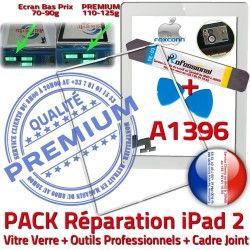 iPad iLAME Outils iPad2 2 Apple Vitre PREMIUM Joint Réparation A1396 Tablette Precollé Bouton Cadre Blanche Verre B Tactile Adhésif HOME PACK