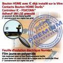iPad Mini1 A1454 Noir Ecran Tablette Vitre Filtre Adhésif Bouton Caméra Home Tactile Verre Réparation Oléophobe Fixation Monté Nappe