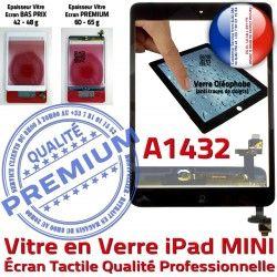 Nappe Filtre Monté Oléophobe iPad Mini1 Fixation A1432 Bouton Verre Réparation Tablette Adhésif Home Tactile Noir Caméra Ecran Vitre