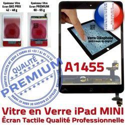 Tactile Filtre iPad Verre Bouton Oléophobe Tablette Fixation Vitre Caméra Nappe Noir Monté Mini1 Home Réparation Ecran A1455 Adhésif