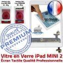 iPad Mini2 A1489 A1490 A1491 B Filtre Bouton Ecran Adhésif Tablette 2 Nappe Blanc Caméra Home MINI Verre Fixation Vitre Réparation Oléophobe Tactile Monté