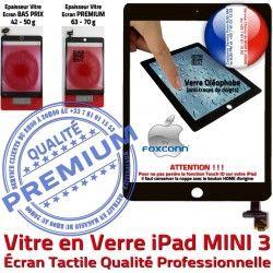 Tactile Tablette Mini3 Caméra MINI Adhésif Oléophobe Ecran Filtre Vitre Noir Bouton 3 Réparation Nappe iPad Verre Monté Home A1600 Fixation A1599