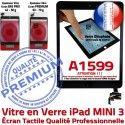 iPad Mini3 A1599 Noir Tablette Home Bouton Filtre Verre Tactile Vitre Nappe Réparation Caméra Adhésif Oléophobe Ecran Monté Fixation