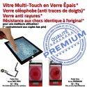 iPad Mini3 A1599 Noir Adhésif Tablette Filtre Nappe Monté Ecran Fixation Home Réparation Tactile Vitre Bouton Oléophobe Caméra Verre