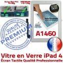 iPad4 Apple A1460 Blanc Ecran Tactile Remplacement Qualité Vitre 4 Verre Caméra Oléophobe iPad Bouton PREMIUM Adhésif Precollé HOME Fixation