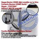 iPad AIR A1475 Blanc Adhésif Verre Tablette Vitre Monté HOME Ecran Réparation Fixation Qualité Caméra Tactile IC Oléophobe Nappe