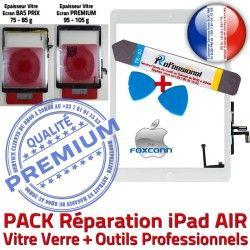 A1475 Adhésif Verre Blanche Tablette iPad PACK Bouton Outil Nappe Precollé A1474 AIR HOME Démontage KIT Tactile A1476 B PREMIUM Réparation Qualité Vitre