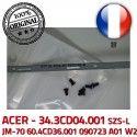 ACER Left Hinge Gauche A01 PC Portable LCD 090723 JM-70 Montant ORIGINAL écran 34.3CD04.001 Charnière Fixations 60.4CD36.001 SZS-L W2