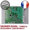 Saunier Duval SYMSI7.0 0310144400R18 IND 3 Carte 10024 Thema 08/48 E KWD electronique S0080 6973 V 0020036711 C24 d'allumage