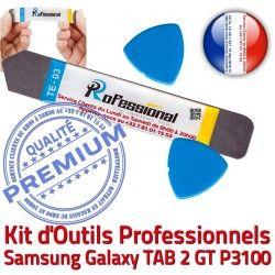 Samsung Tactile GT KIT 2 Réparation Ecran Professionnelle Remplacement P3100 Vitre iLAME Outils Compatible TAB Qualité Démontage Galaxy iSesamo