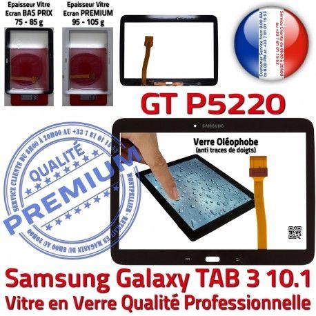 Samsung Galaxy TAB 3 GT-P5220 N P5220 Noire TAB3 Verre en LCD 10.1 Adhésif Qualité Prémonté Ecran PREMIUM Assemblée Vitre GT Tactile Supérieure