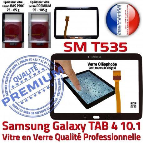 Samsung Galaxy SM-T535 Tab4 N LCD Verre Prémonté TAB4 Tactile Qualité Noire PREMIUM Ecran Assemblée 10.1 Adhésif Supérieure Vitre en