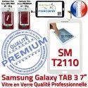 Samsung Galaxy TAB 3 SM-T2110 B Verre Supérieure en Assemblée Prémonté T2110 Vitre Blanche PREMIUM Tactile SM Adhésif Ecran LCD Qualité TAB3 7