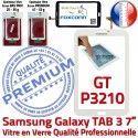 Samsung Galaxy TAB 3 GT-P3210 B GT Prémonté P3210 Assemblée 7 Verre Ecran Adhésif Qualité Tactile TAB3 Blanche PREMIUM LCD Vitre en Supérieure