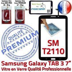 7 Qualité PREMIUM SM-T2110 LCD TAB3 Galaxy Adhésif Vitre Verre en N Tab3 Samsung Assemblée Supérieure Tactile Ecran Prémonté Noire