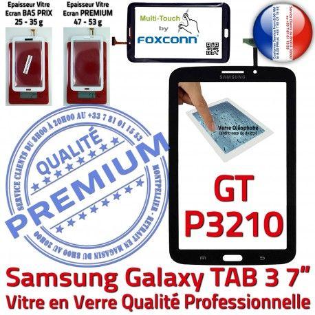 Samsung Galaxy TAB 3 GT-P3210 N GT PREMIUM Vitre Assemblée Ecran Tactile Prémonté TAB3 7 P3210 Adhésif Verre en Noire Qualité Supérieure LCD