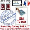 Samsung Galaxy SM-T2100 Tab3 B Blanche Ecran Verre 7 Tactile Supérieure Qualité Prémonté TAB3 en Assemblée PREMIUM Adhésif LCD Vitre