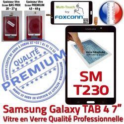 N Tactile Qualité Adhésif Verre Samsung Assemblée Galaxy SM-T230NZWAXEF Prémonté TAB4 Vitre LCD Supérieure Ecran PREMIUM Noire