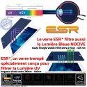 Protection Lumière UV iPad A1397 Film Vitre Incassable Filtre Apple Verre Chocs Anti-Rayures Trempé Protecteur Ecran ESR Bleue