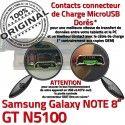 Samsung Galaxy GT-N5100 NOTE C GT de MicroUSB Chargeur Qualité OFFICIELLE Charge N5100 Nappe Doré Réparation Contact Connecteur ORIGINAL