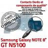 Samsung Galaxy GT-N5100 NOTE C Nappe MicroUSB GT de Connecteur OFFICIELLE Réparation Chargeur Charge Qualité N5100 Doré Contact ORIGINAL