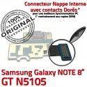 Samsung Galaxy NOTE GT-N5105 C USB N5105 Chargeur Micro Contacts Charge GT ORIGINAL Réparation Connecteur Nappe Doré OFFICIELLE Qualité de