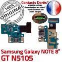 GT-N5105 Micro USB NOTE Charge MicroUSB de GT Réparation Qualité N5105 ORIGINAL Samsung OFFICIELLE Nappe Doré Contact Connecteur Galaxy Chargeur
