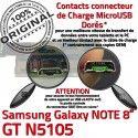 GT-N5105 Micro USB NOTE Charge Nappe Doré MicroUSB Contact N5105 Chargeur Samsung de Galaxy Qualité ORIGINAL GT Réparation Connecteur OFFICIELLE
