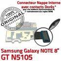 GT-N5105 Micro USB NOTE Charge Samsung de Doré ORIGINAL Réparation Qualité Chargeur Connecteur GT OFFICIELLE Galaxy Nappe N5105 Contact MicroUSB