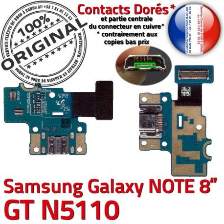 Samsung Galaxy GT-N5110 NOTE C Qualité Réparation ORIGINAL Charge Contact OFFICIELLE de Nappe Connecteur N5110 Doré GT Chargeur MicroUSB