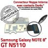 Samsung Galaxy GT-N5110 NOTE C Qualité Contact Nappe N5110 Doré Charge MicroUSB ORIGINAL Chargeur Connecteur GT de OFFICIELLE Réparation