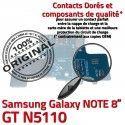 GT-N5110 Micro USB NOTE Charge Galaxy Nappe Samsung Connecteur OFFICIELLE Réparation MicroUSB Qualité Doré ORIGINAL de GT N5110 Chargeur Contact