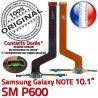 Samsung Galaxy SM-P600 NOTE C Réparation MicroUSB ORIGINAL OFFICIELLE de Connecteur Contact Pen Charge Nappe P600 Chargeur Doré SM Qualité